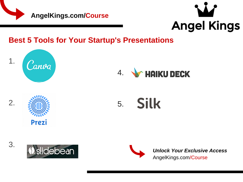 Here are the best 5 tools for your startup's presentation.