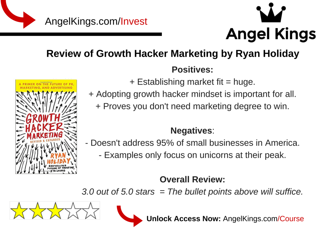 """What are the most important takeaways from Ryan Holiday's book, """"Growth Hacker Marketing""""?"""