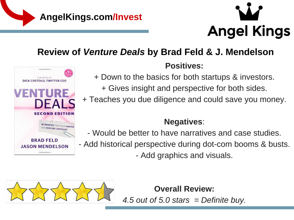 Here are the positives and negatives o Venture Deals.