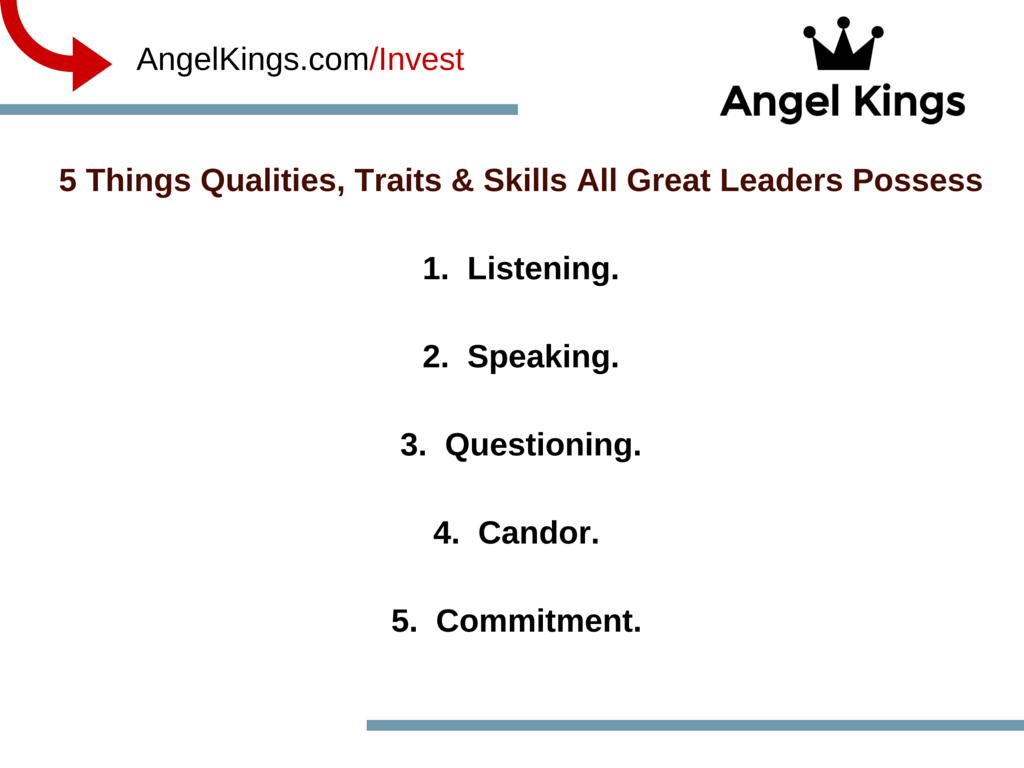 5 Qualities All Leaders Possess