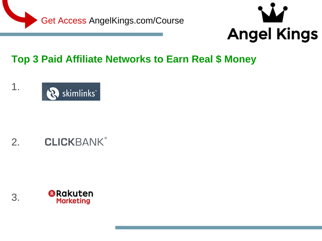 Here are the top 3 paid affiliate networks for individuals to make money.