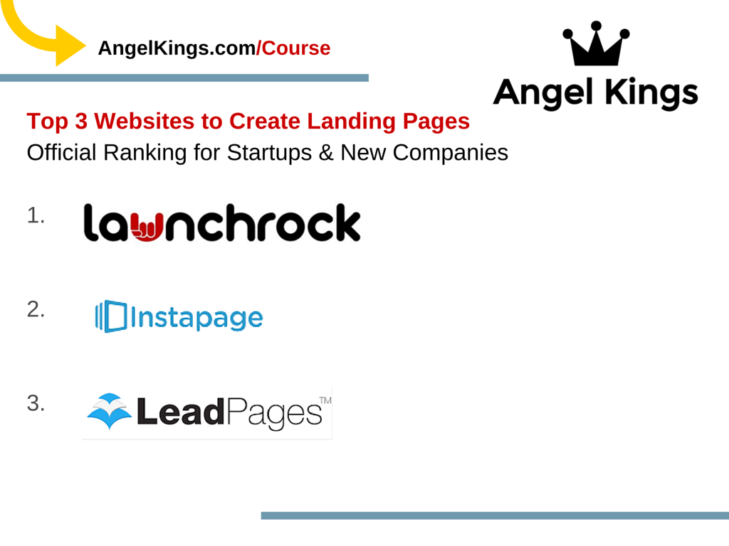 What are the best websites for startups to use when creating landing pages?