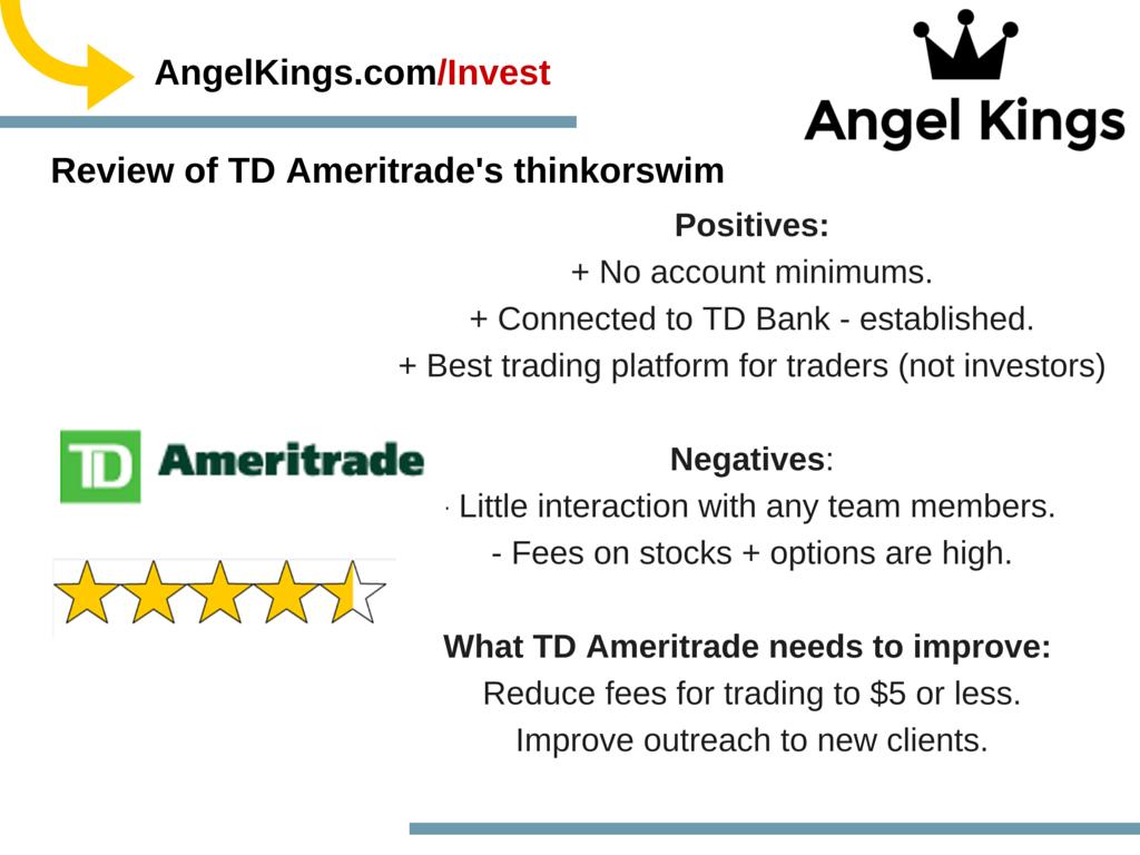 How does TDAmeritrade help investors?