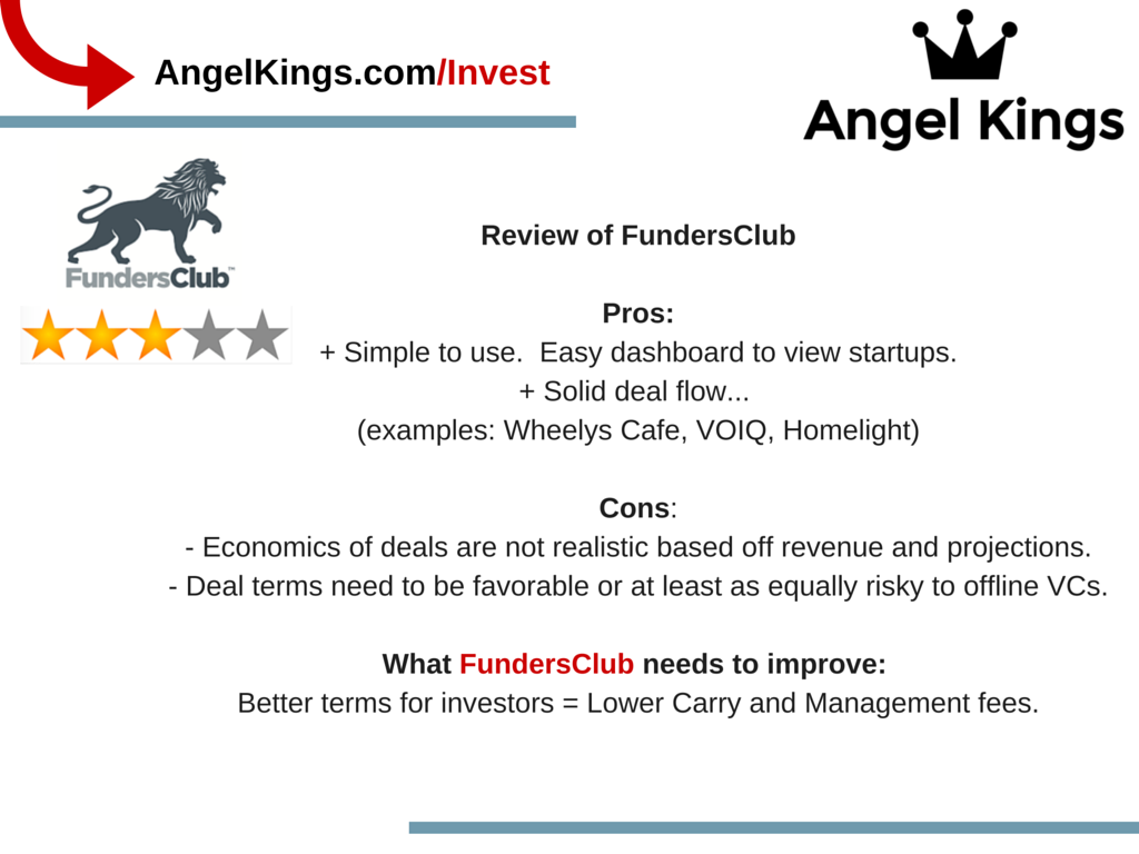 What are the pros and cons of FundersClub?