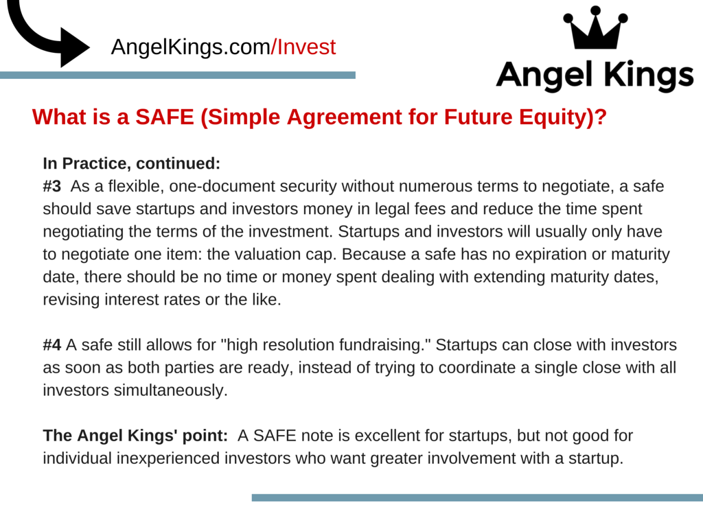 How does a SAFE note provide startup founders more flexibility?