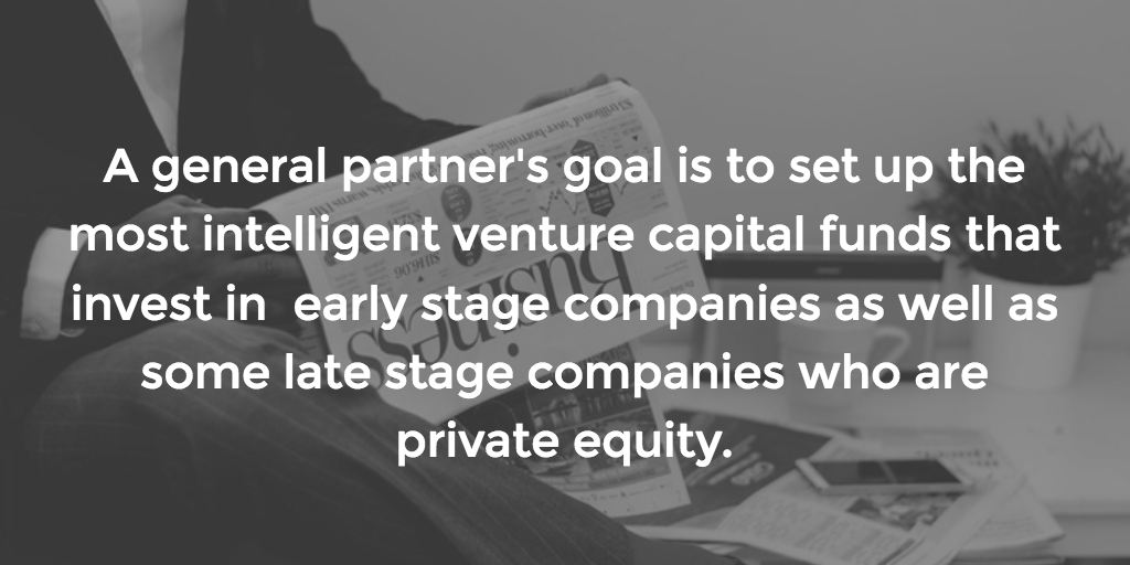 What is the role of general partners when it comes to investing?