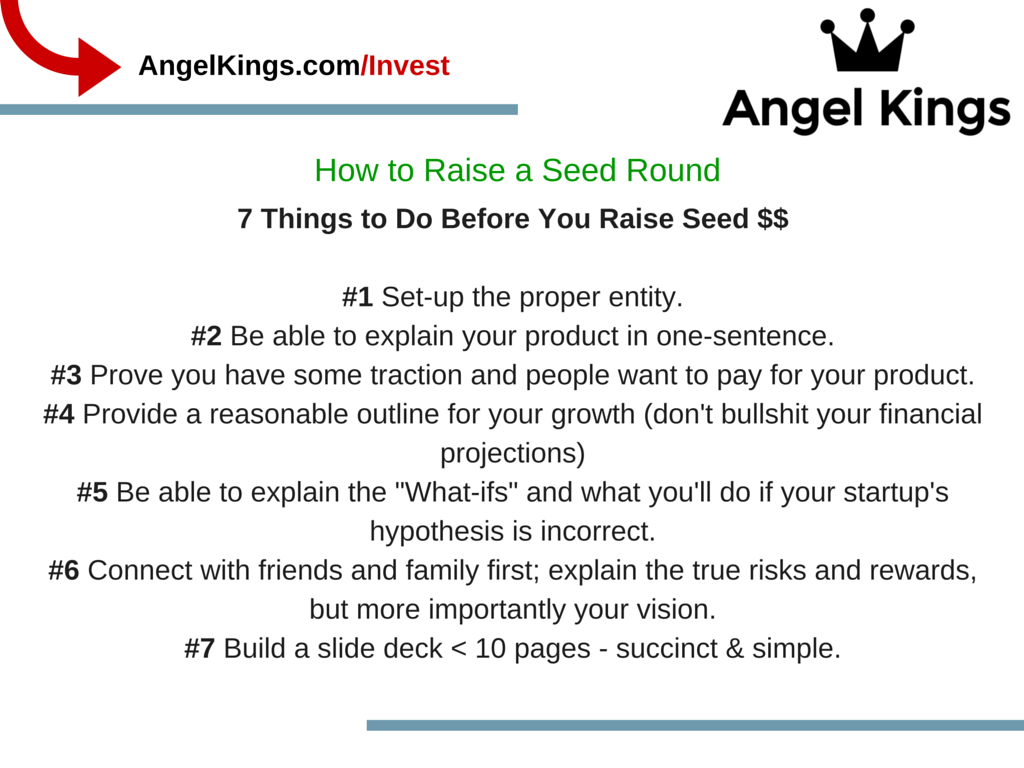 Why is the seed round important for startups when raising funds?