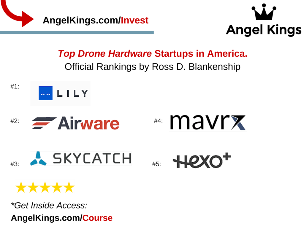 The Official Rankings of the Best Drone Hardware Startups?