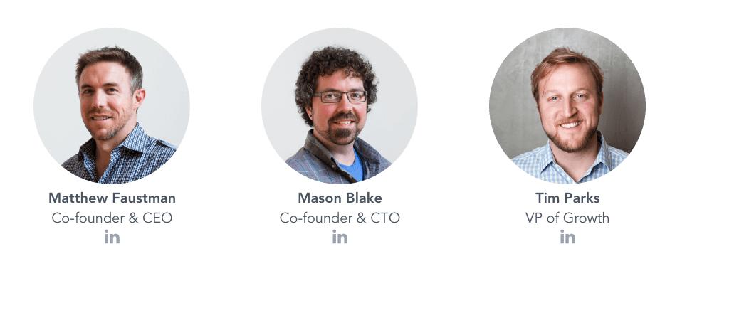 UpCounsel's Team: Matt Faustman, Mason Blake, Tim Parks