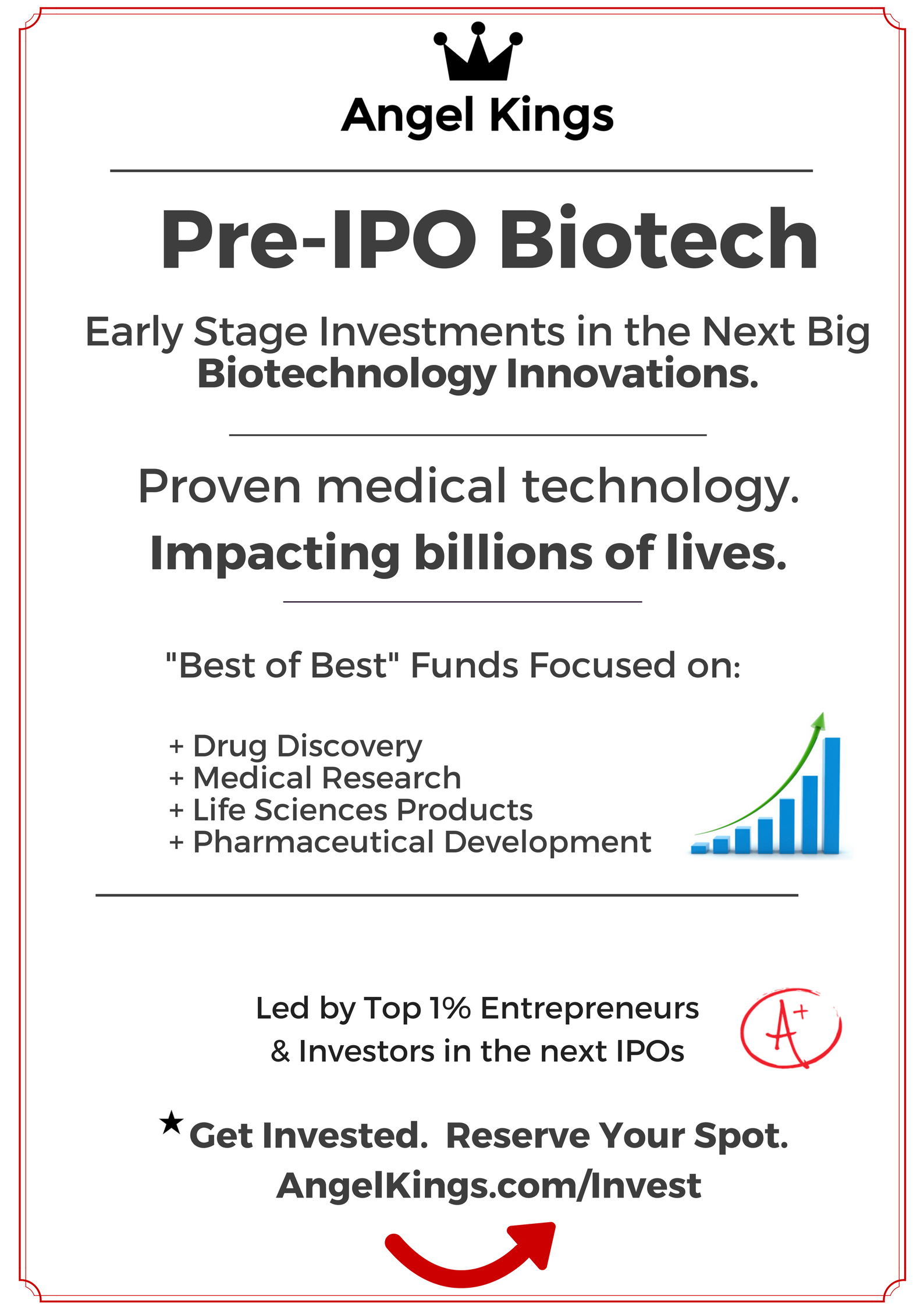 Invest in Biotech Startups   with AngelKings.com
