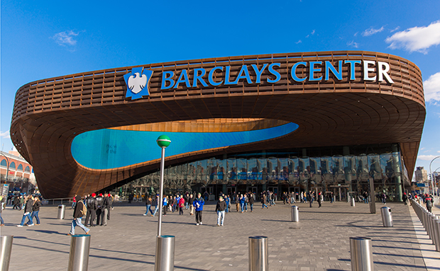 Brooklyn is home to the intriguing Barclays Center; image courtesy of  Pentagram