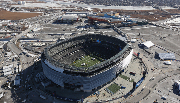 Meadowlands, or MetLife, Stadium is the most expensive stadium ever built; image courtesy of  Sports Grid . (This may be located in New Jersey, but I figured it was close enough to count!)