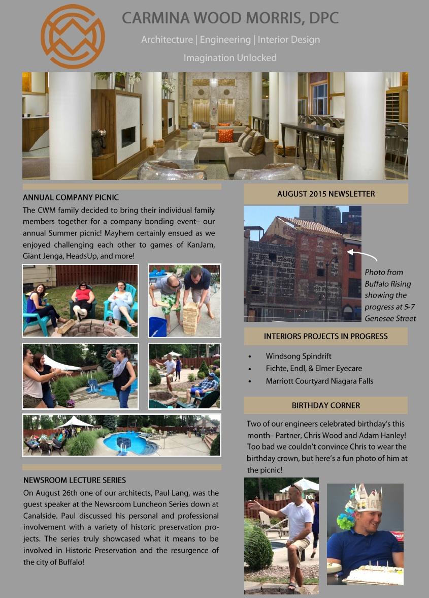CWM August Newsletter