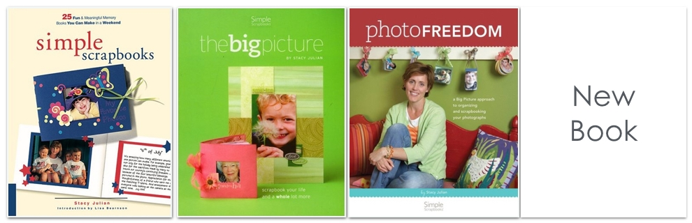 Simple Scrapbooks ( Creating Keepsakes Books 2000), The Big Picture (Simple Scrapbooks 2005) and Photo Freedom (Simple Scrapbooks 2008) are my previous books. I also self published Core Composition in 1997. My new book will be published next year, by Cedar Fort Publishing.