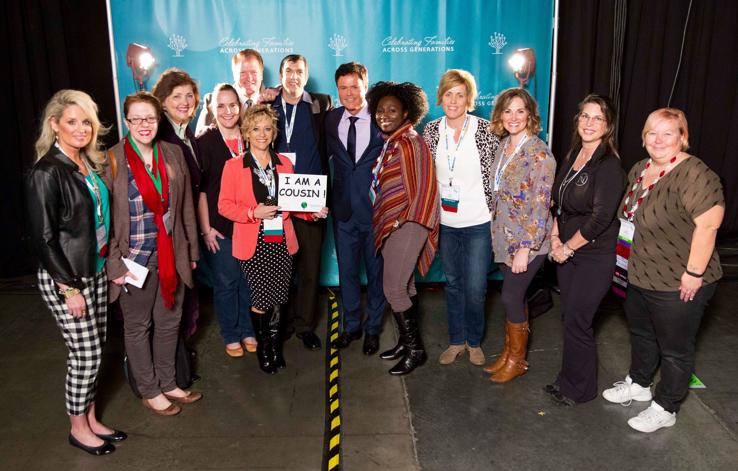 Photo taken last year, following Donny Osmond's keynote address. I bet you recognize a few other faces in this photo too. AJ Jacobs is there and so is Rhonna Farrer and Becky Higgins! Good times!