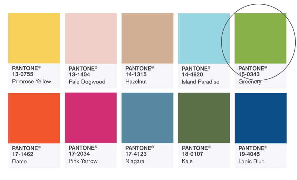 These colors constitute the Fashion Color Report for Spring 2017. It is a mix of vitality, relaxation and the great outdoors.
