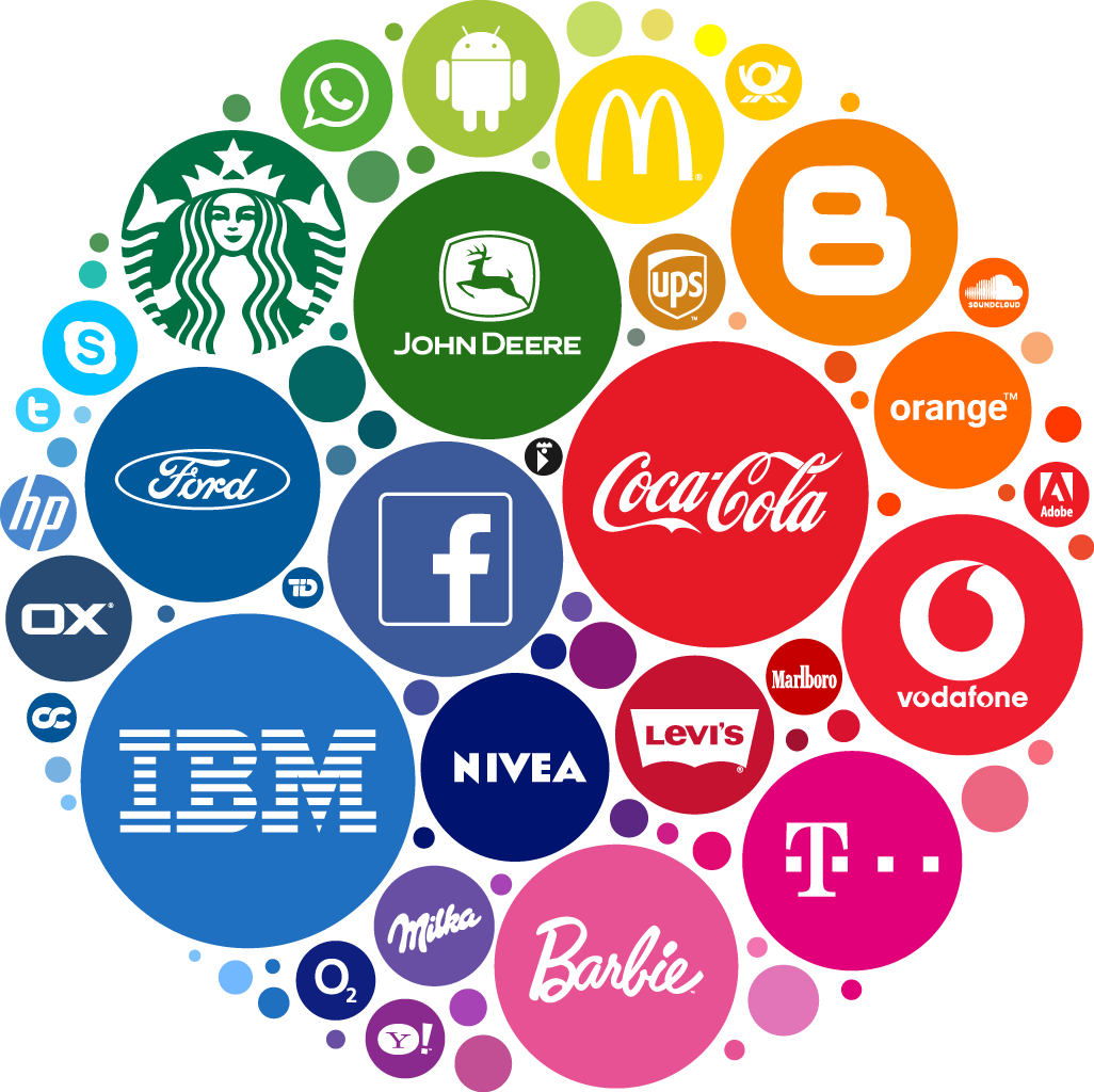 You may have seen this image before. I got it  HERE . It's illustrative of the power of color for some of the biggest brands in the world. Click to enlarge!