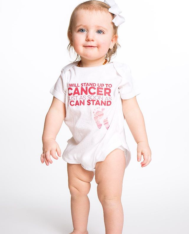Give the tiny a mighty voice 💪🏻#standuptocancer #borntobetees