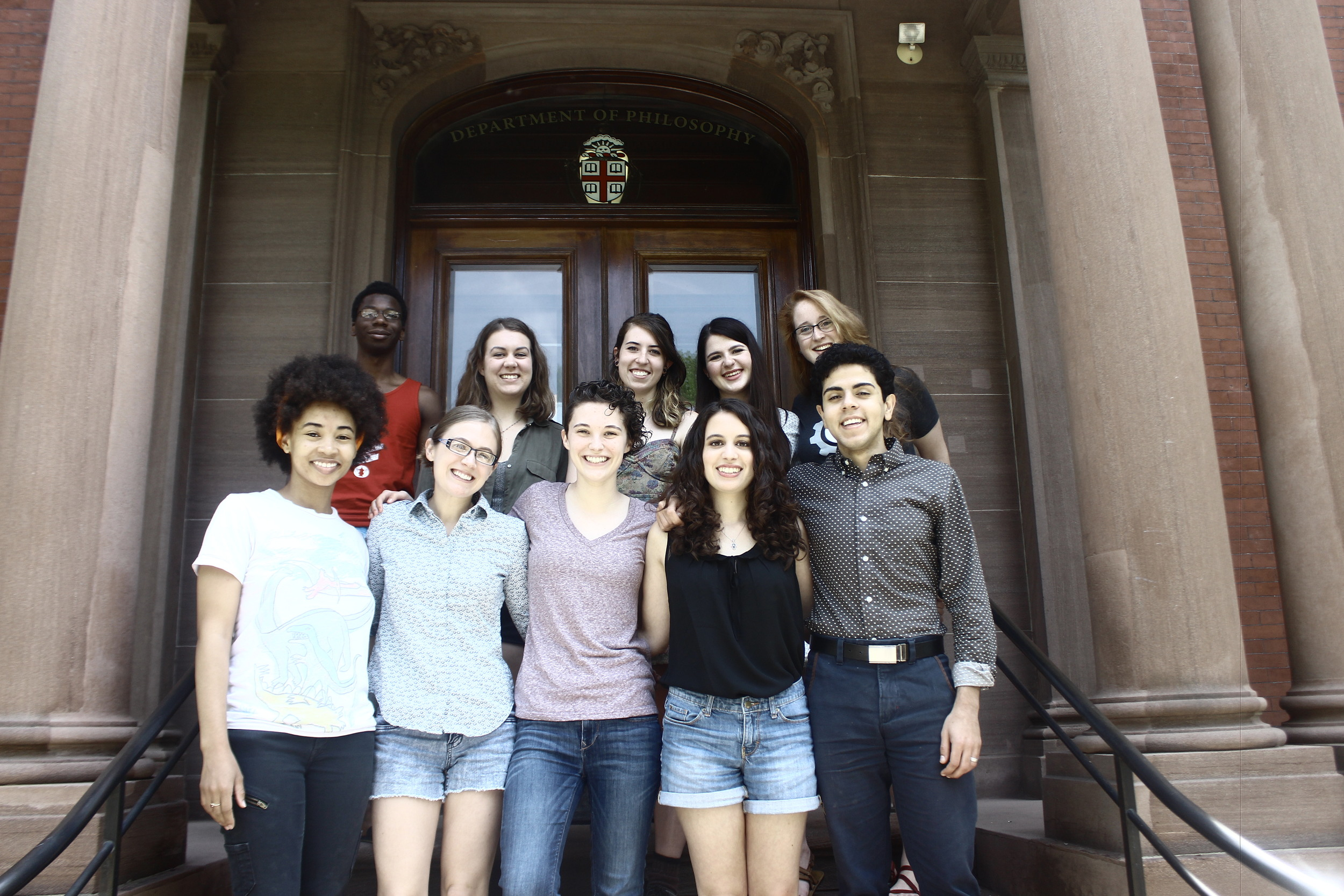 Top row, left to right: Darian Bolen, Madeline Aruffo, Katie Owens, Sam Gerleman, Kristen Beard. Bottom row, left to right: Mariah Levy, Kirsi Teppo, Mallory Webber, Eliana Peck, Sayid Bnefsi.