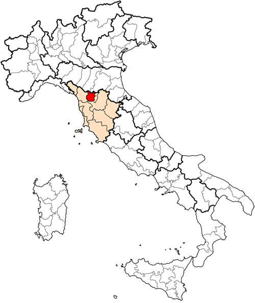Quarrata is a  comune  (municipality) in the  Province of Pistoia  in the  Italian  region of  Tuscany , located about 30 kilometres (19 mi) west of  Florence  and about 10 kilometres (6 mi) south of  Pistoia .
