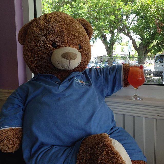 Dek relaxing at Nana's Diner in West Palm Beach.