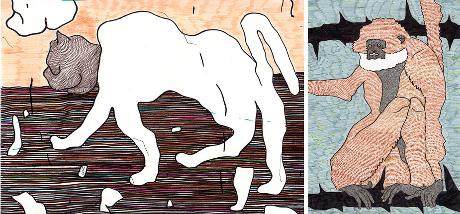 Drawings by Jan Oksbøl Callesen