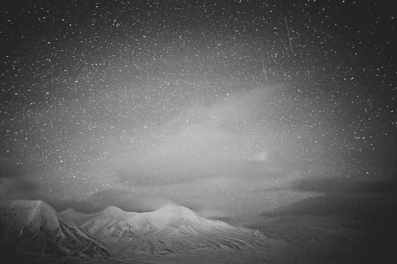 Stars ofSvalbard, Longyearbyen, Norway. Minimalistic arctic nature.