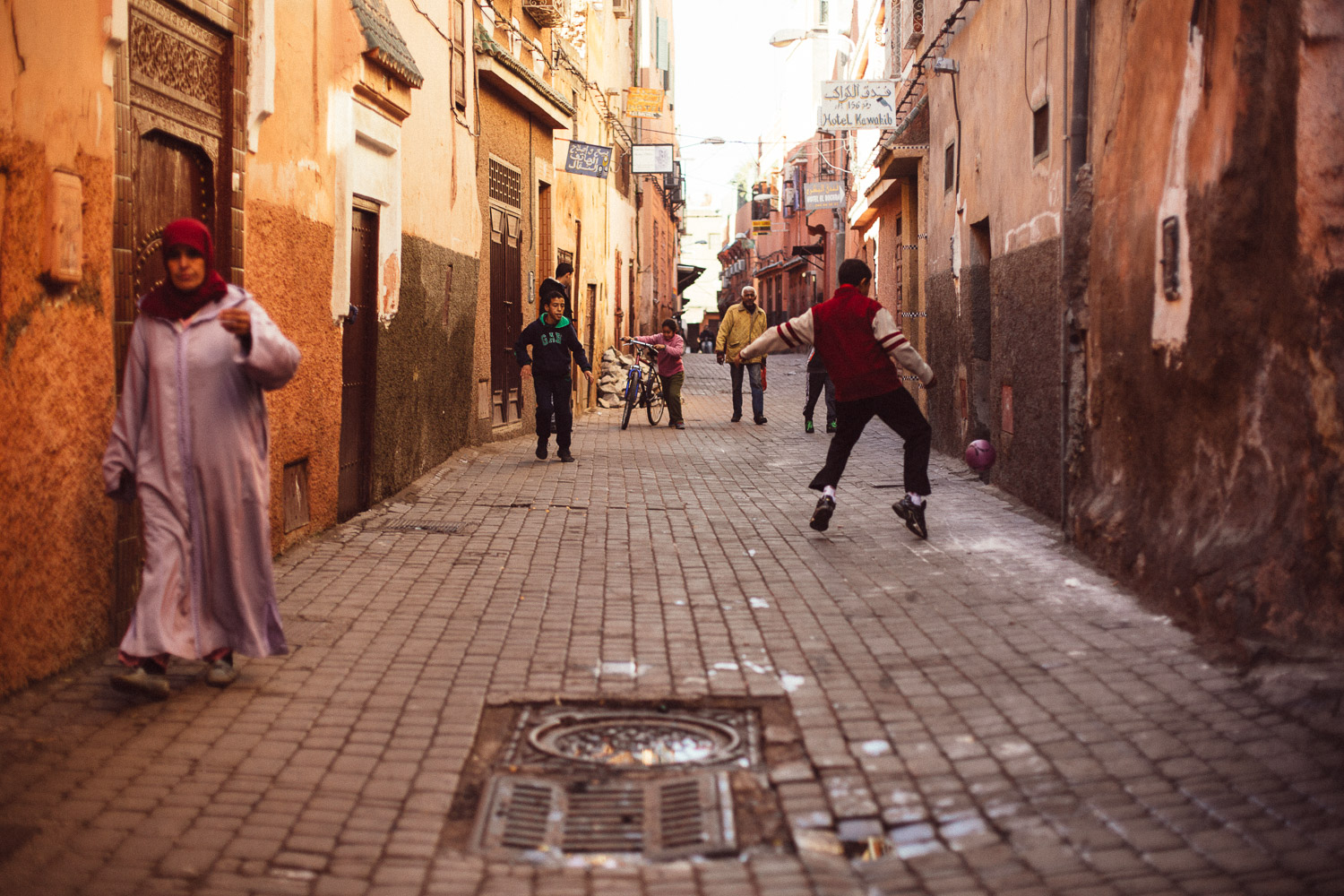 Lost in time in a back-alley in Marrakech, Morocco.