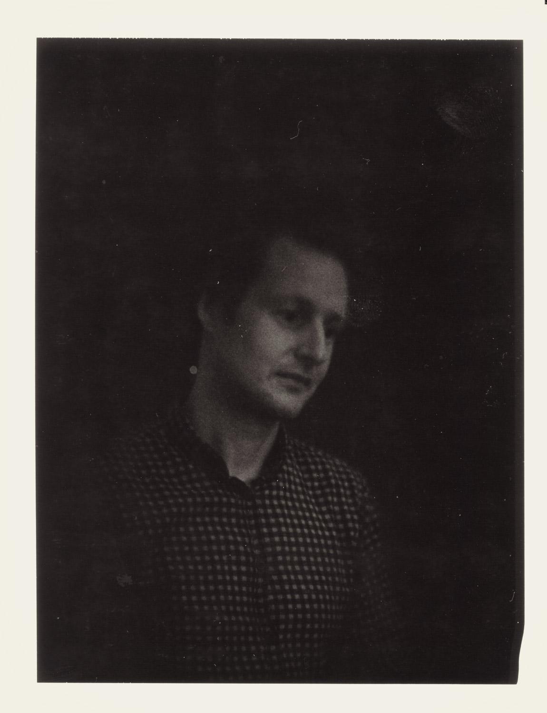 Lars on expired Polaroid on Sinar w. old Petzval