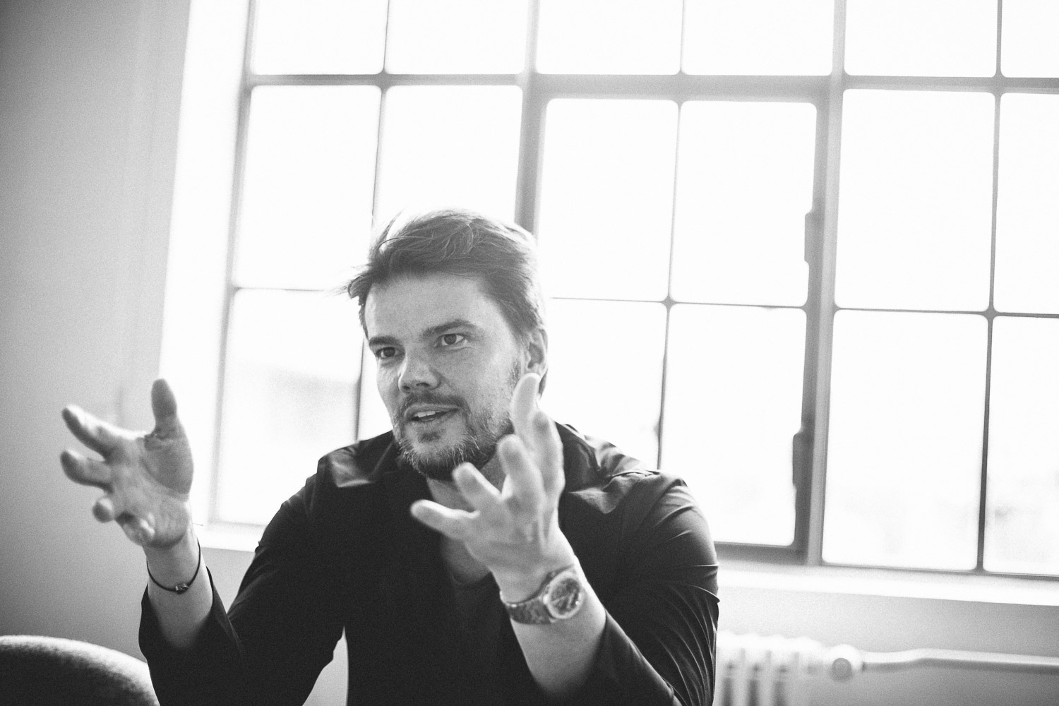Bjarke Ingels during an interview in his studio