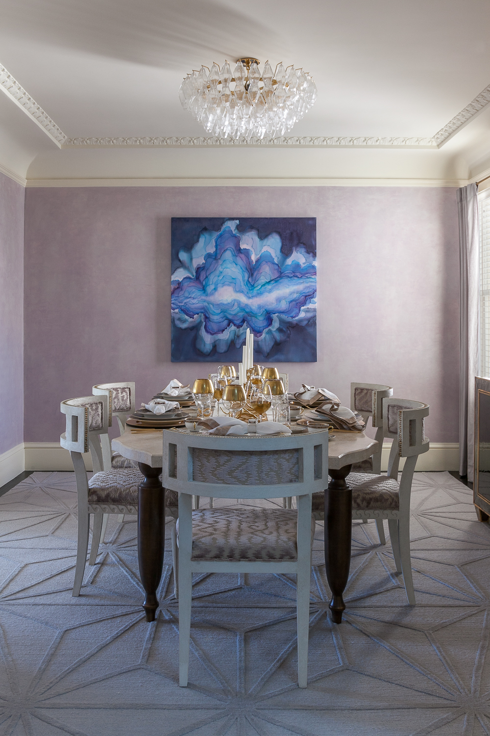 Lilac Textural Glamour