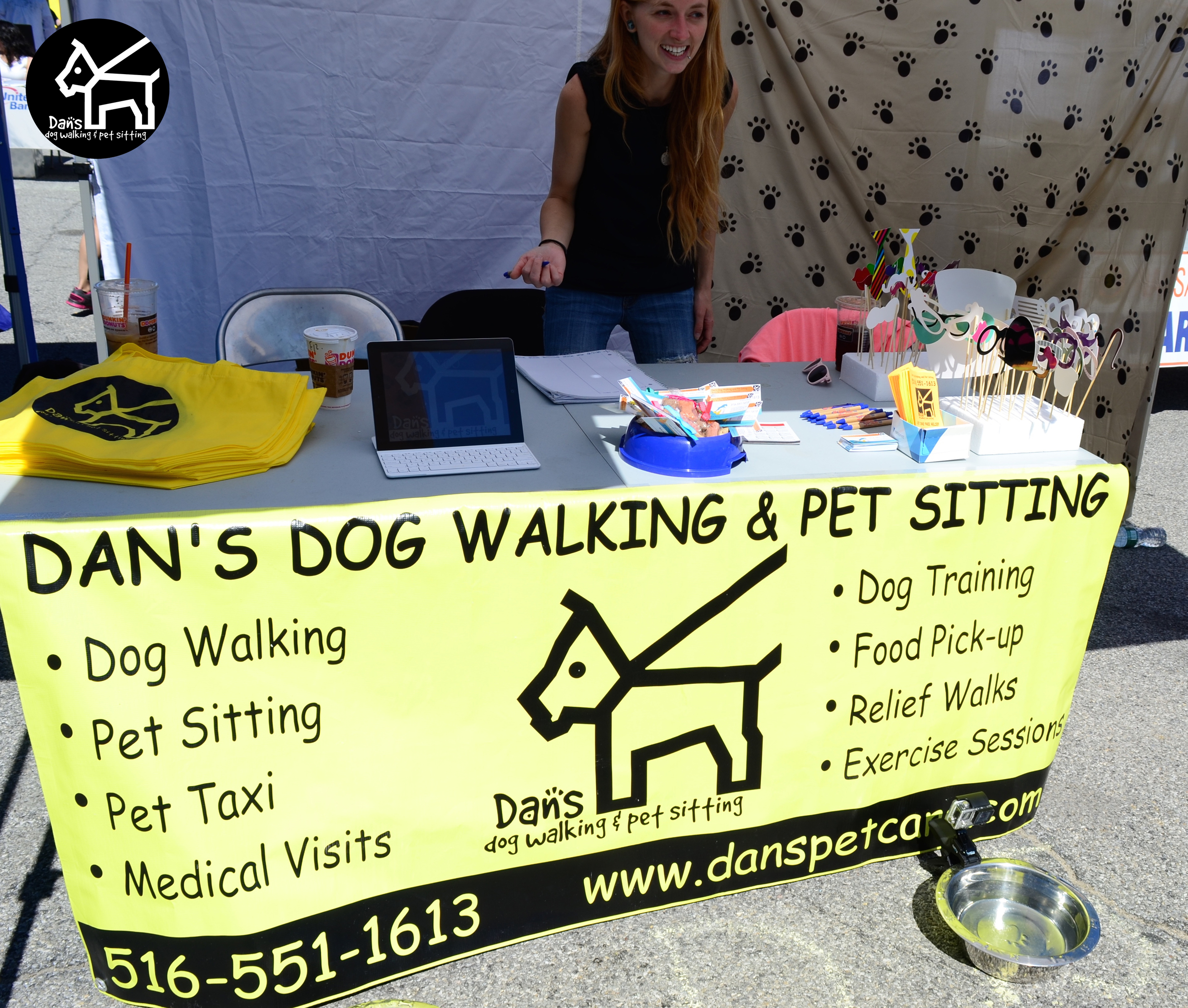 Ali is all smiles at Dan's Dog Walking and Pet Sitting Doggie Photo Booth at Harbor Fest 2015.jpg