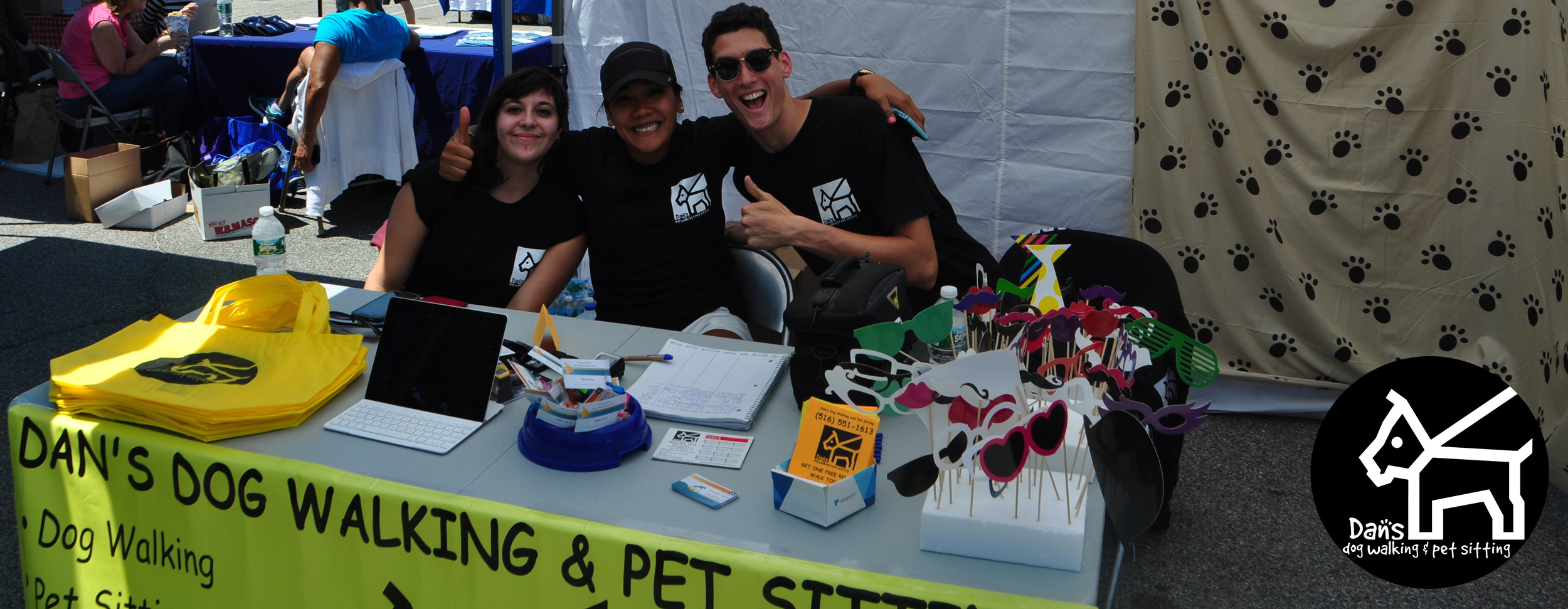 Becky, Lara and Mauro at Dan's Dog Walking and Pet Sitting at Harbor Fest 2015.jpg