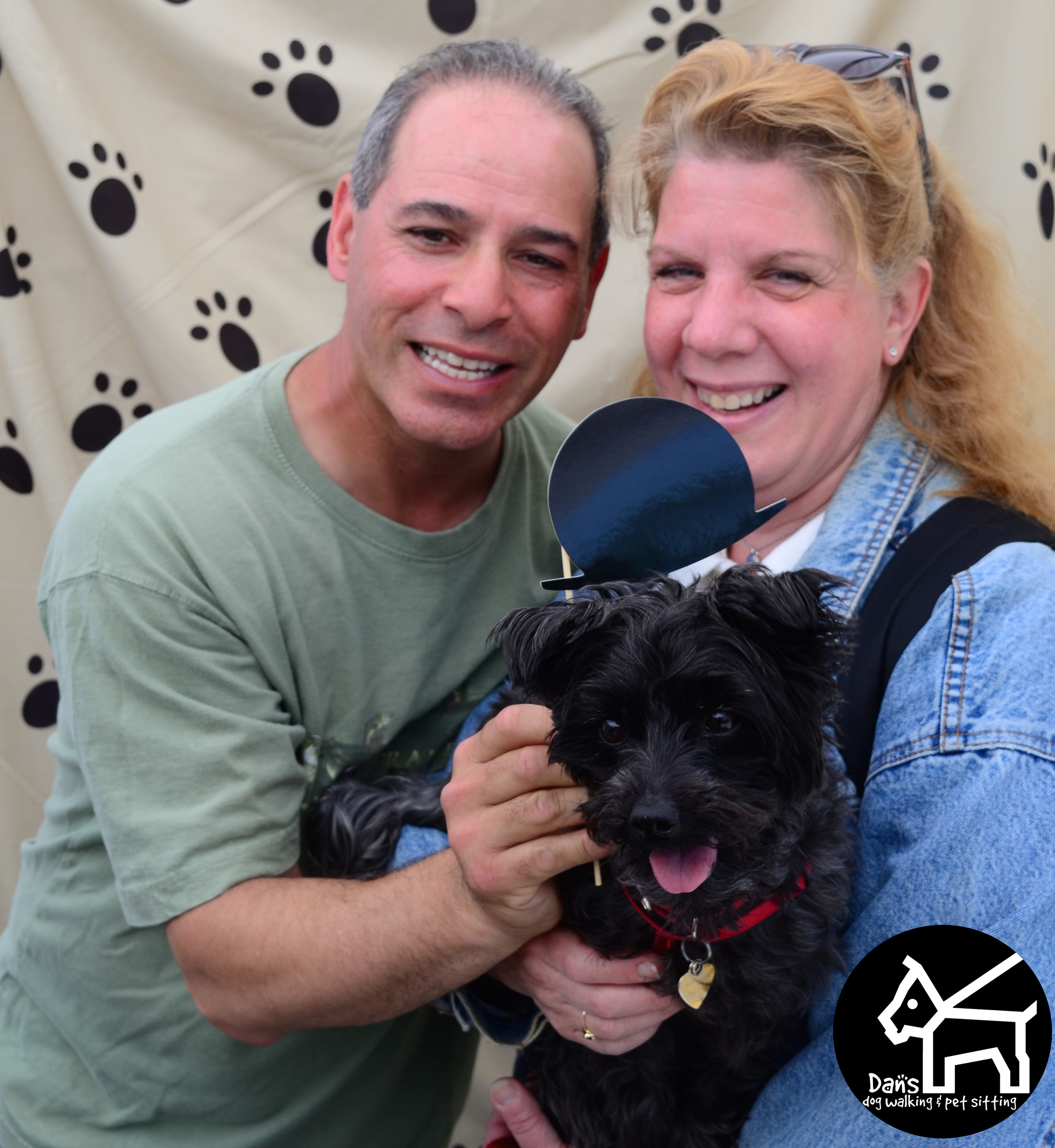 Can't go wrong with a top hat at Dan's Dog Walking and Pet Sitting Doggie Photo Booth at Harbor Fest 2015.jpg