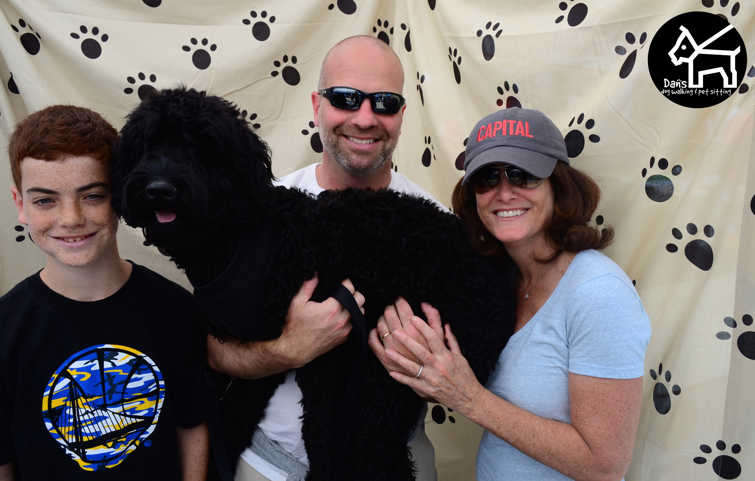 Family Photo Time at Dan's Dog Walking and Pet Sitting Doggie Photo Booth at Harbor Fest 2015.jpg