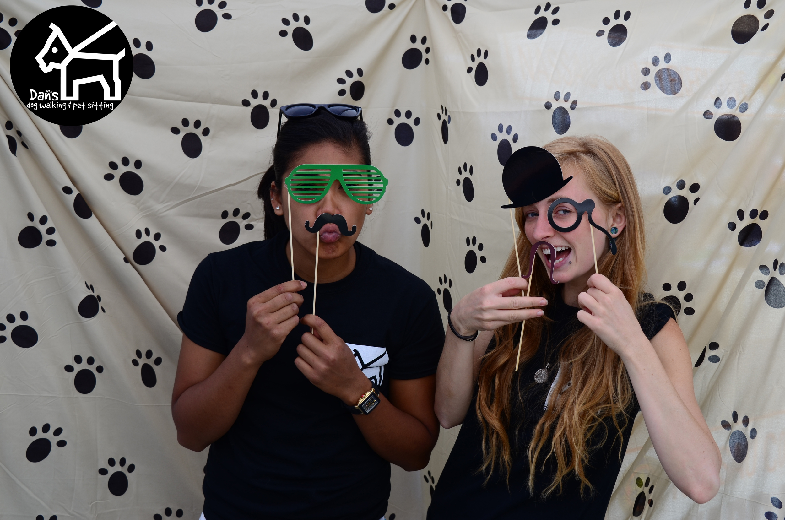 Lara and Ali at the Dan's Dog Walking and Pet Sitting Photobooth.jpg