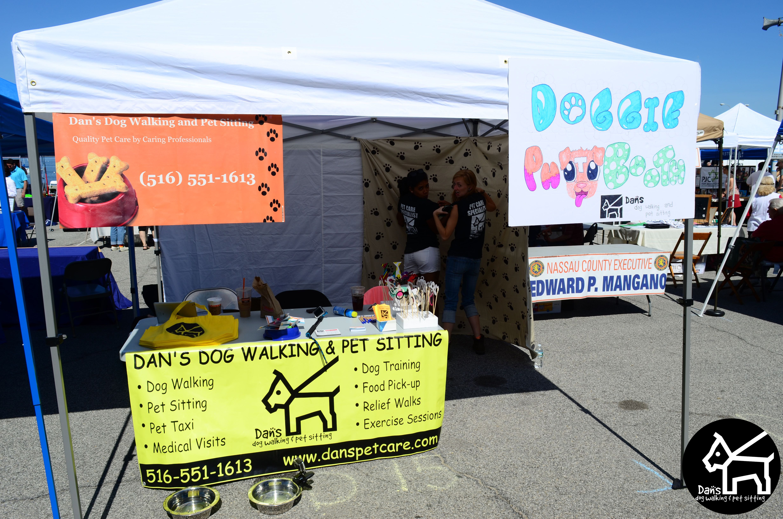 Lara and Ali posing at Dan's Dog Walking and Pet Sitting Doggie Photo Booth at Harbor Fest 2015.jpg