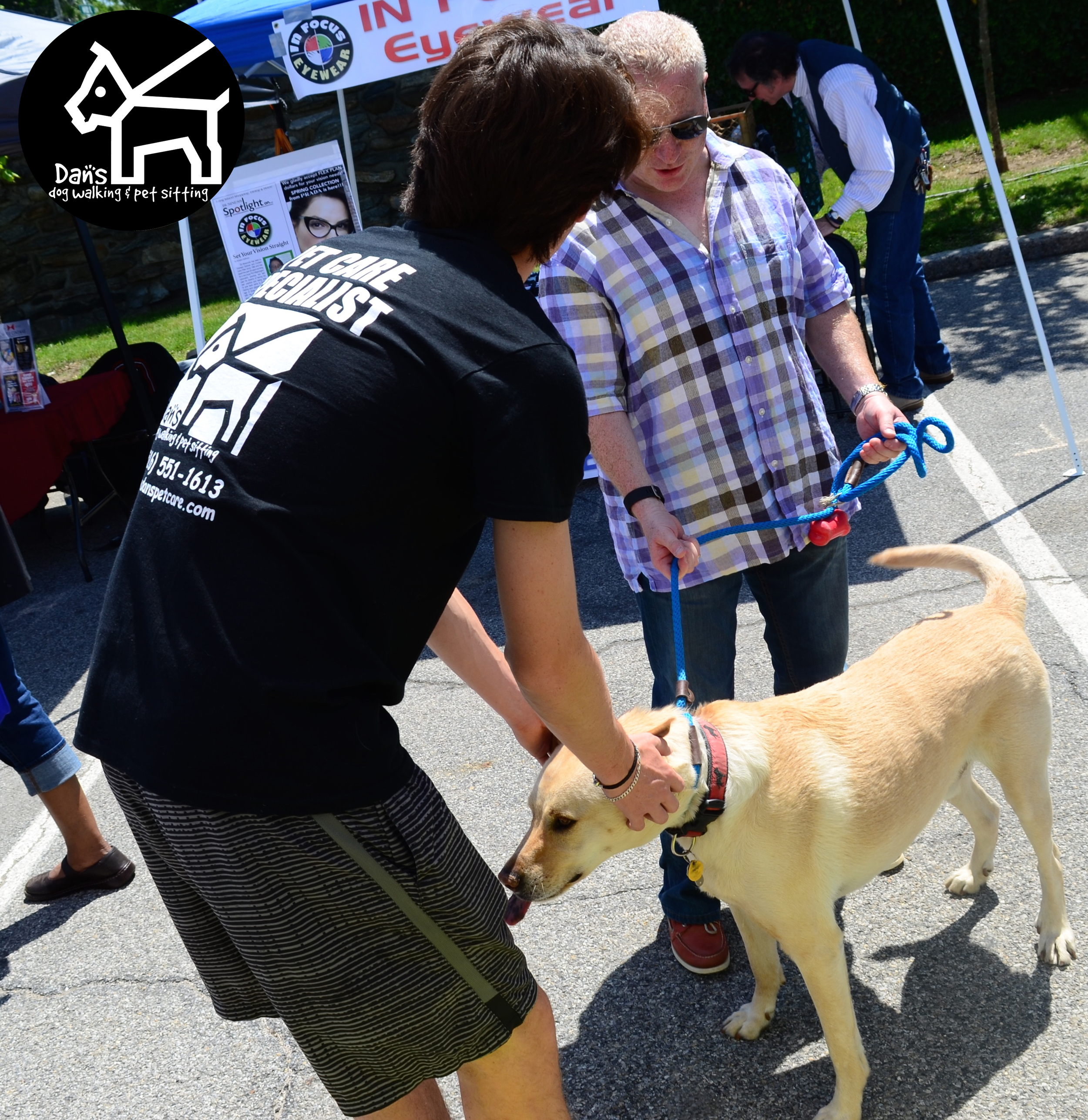 Making new friends at Dan's Dog Walking and Pet Sitting Doggie Photo Booth at Harbor Fest 2015.jpg