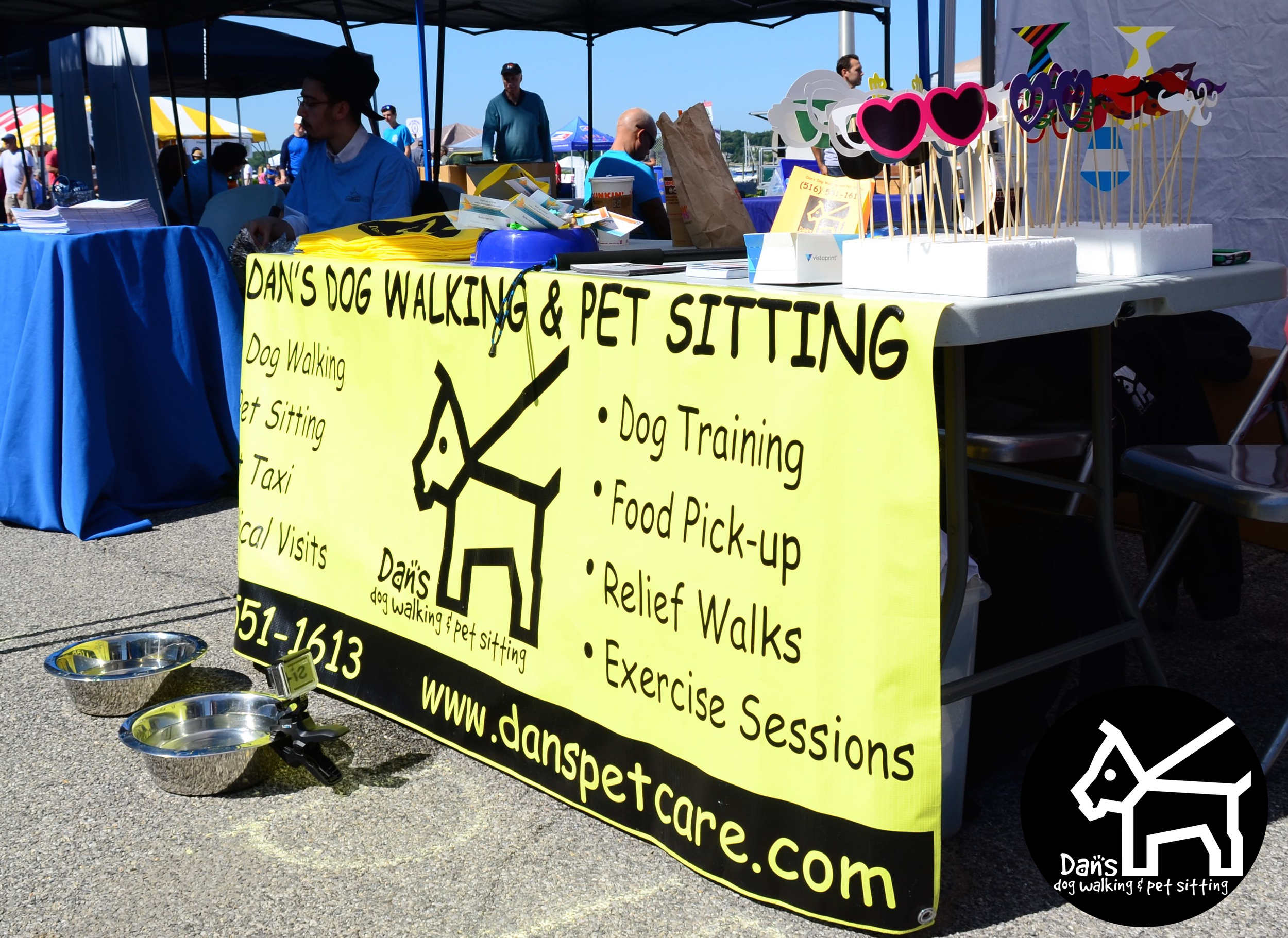 Our Booth at Dan's Dog Walking and Pet Sitting Doggie Photo Booth at Harbor Fest 2015.jpg
