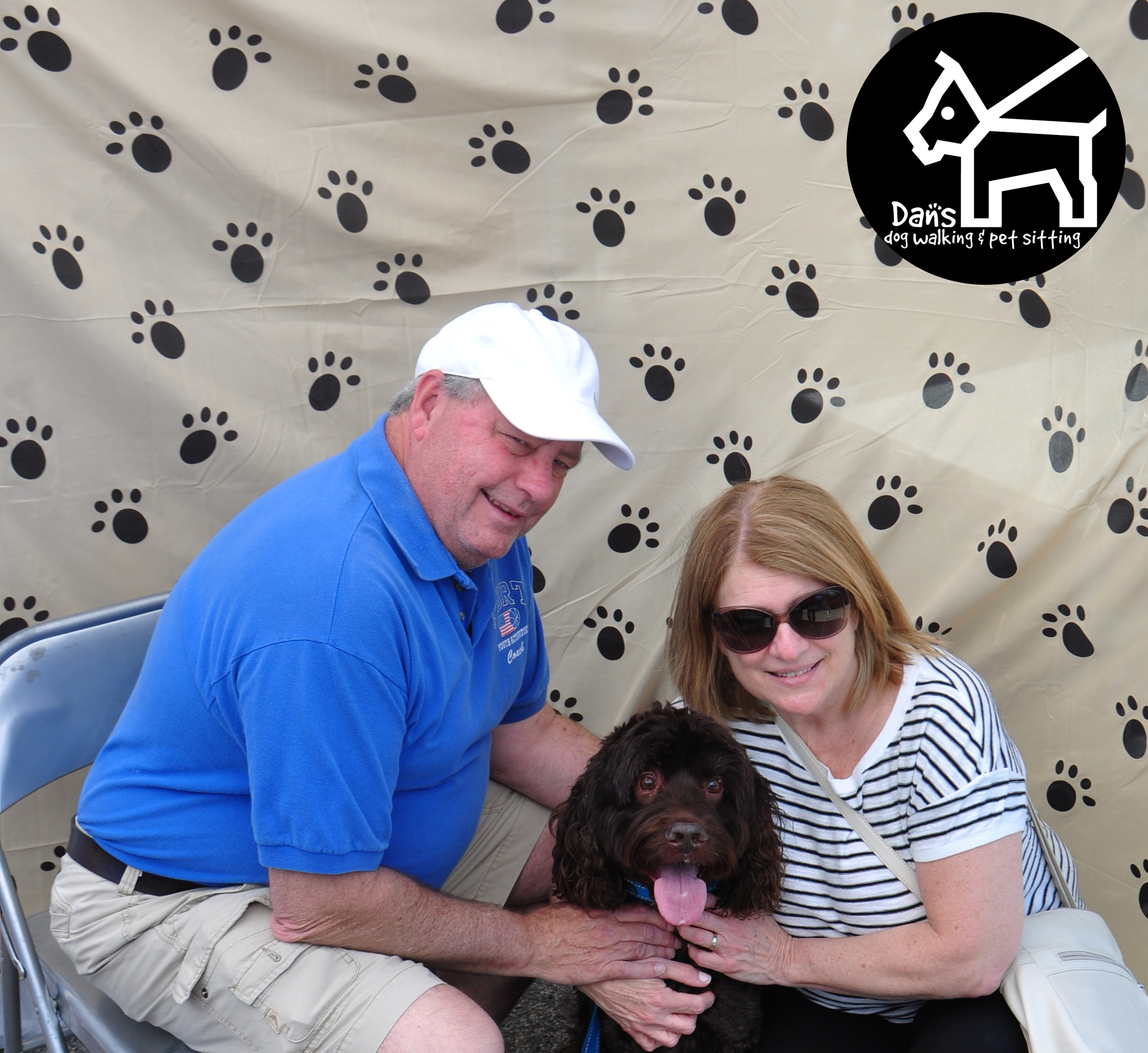 Rosemary and Tom at the Dan's Dog Walking and Pet Sitting Doggie Photo Booth at Harbor Fest 2015.jpg
