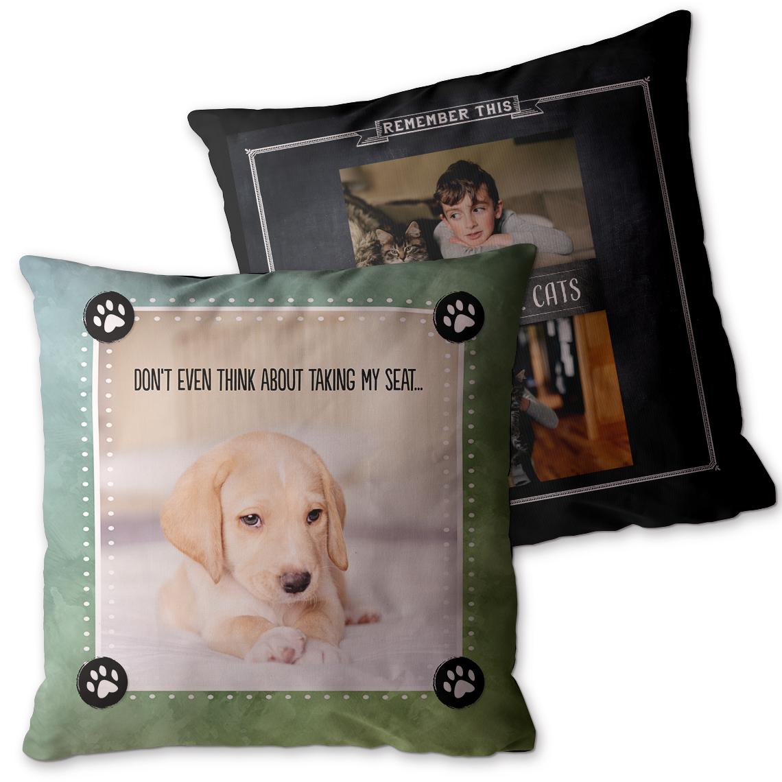 Custom pet pillows from Snapfish.com