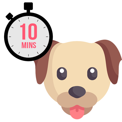 Each relief walk is a full 10-minute visit. Whether it's just to let your dogs out to pee or just a quick play time in the backyard. These visits are perfect for a new puppy that needs multiple daily visits.