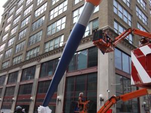 Claes Oldenburg Paints Philadelphia Red    ART IN AMERICA | AUGUST 22, 2011