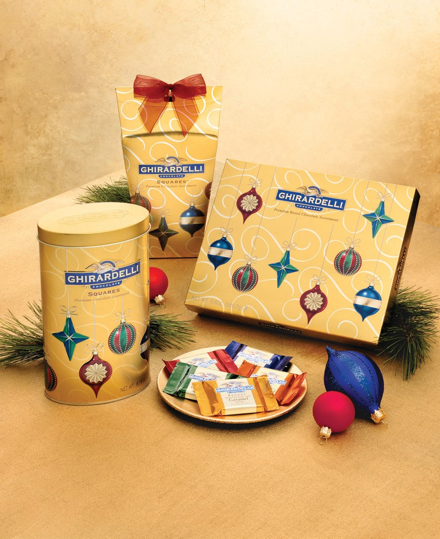 Ghirardelli Chocolate Holiday Ornament Gift Collection