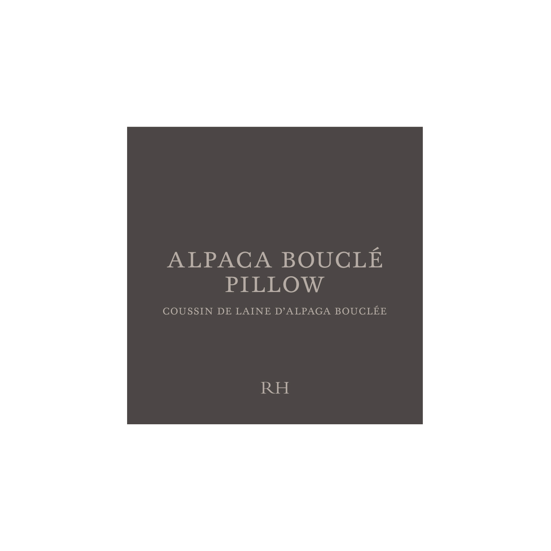 Alpaca Bouclé Hang Tag
