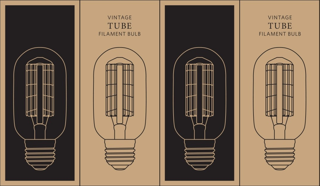 Vintage Tube Filament Bulb Packaging