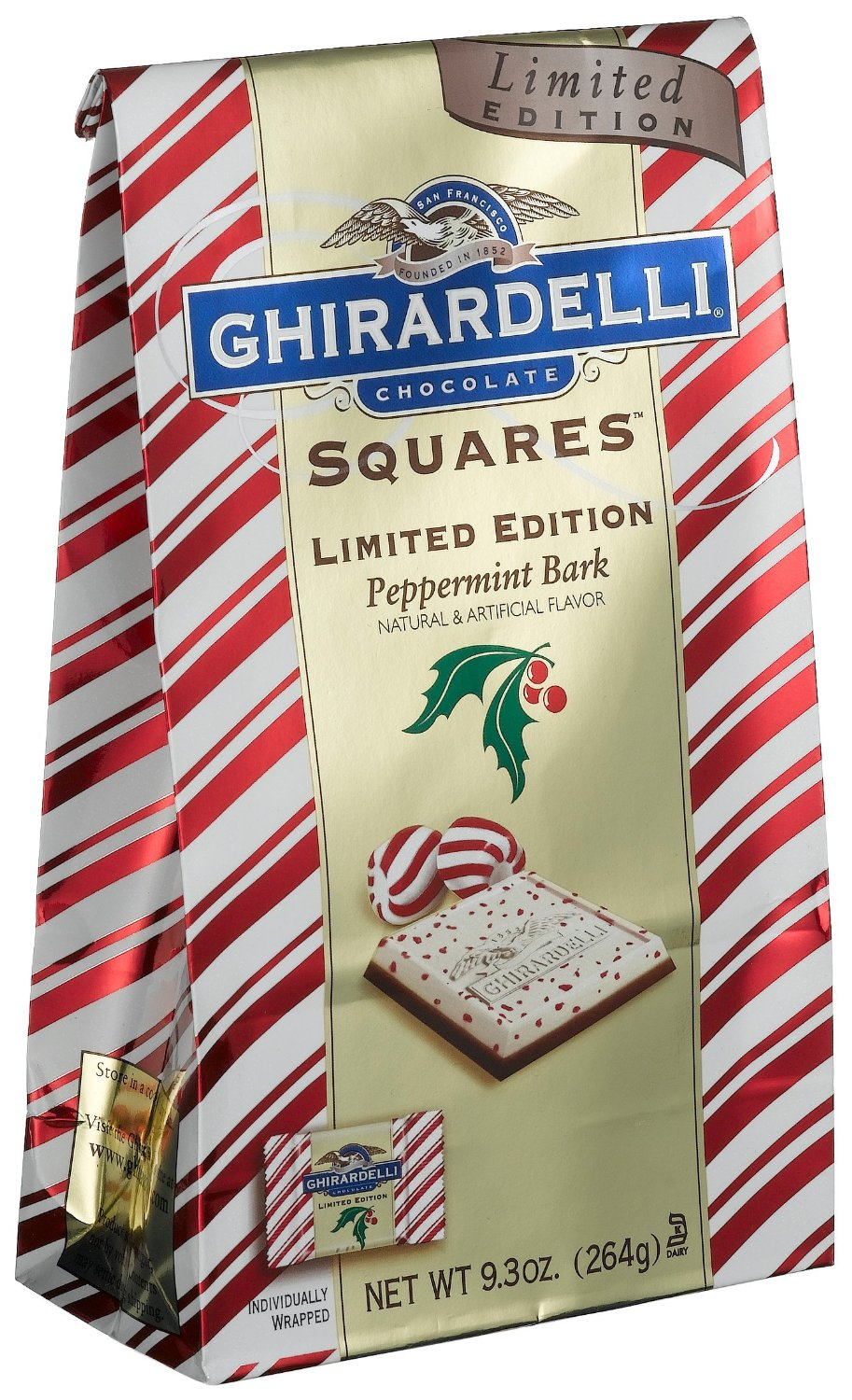 Ghirardelli Chocolate Peppermint Bark Stand Up Bag