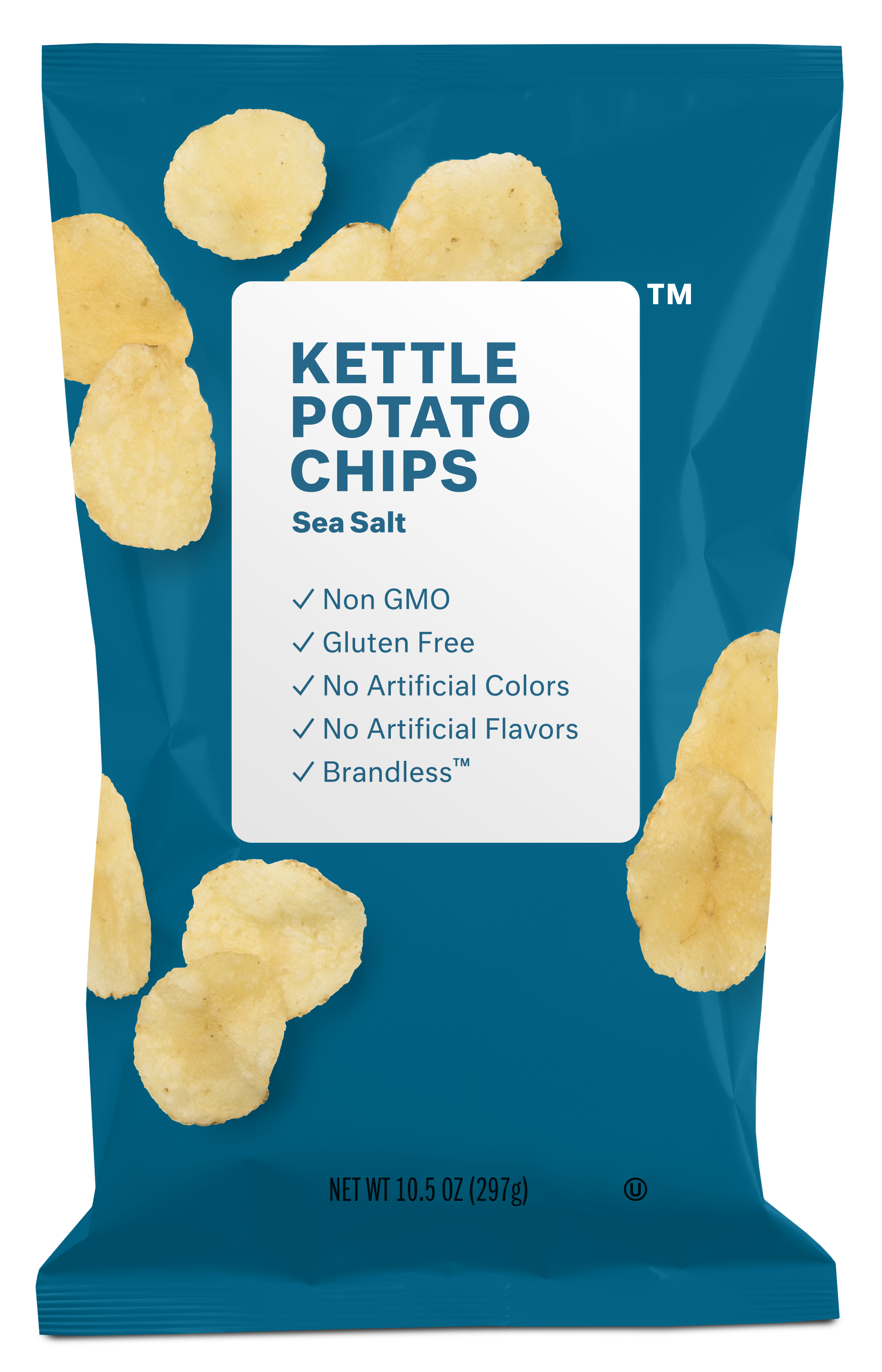Brandless Kettle Potato Chips: Sea Salt