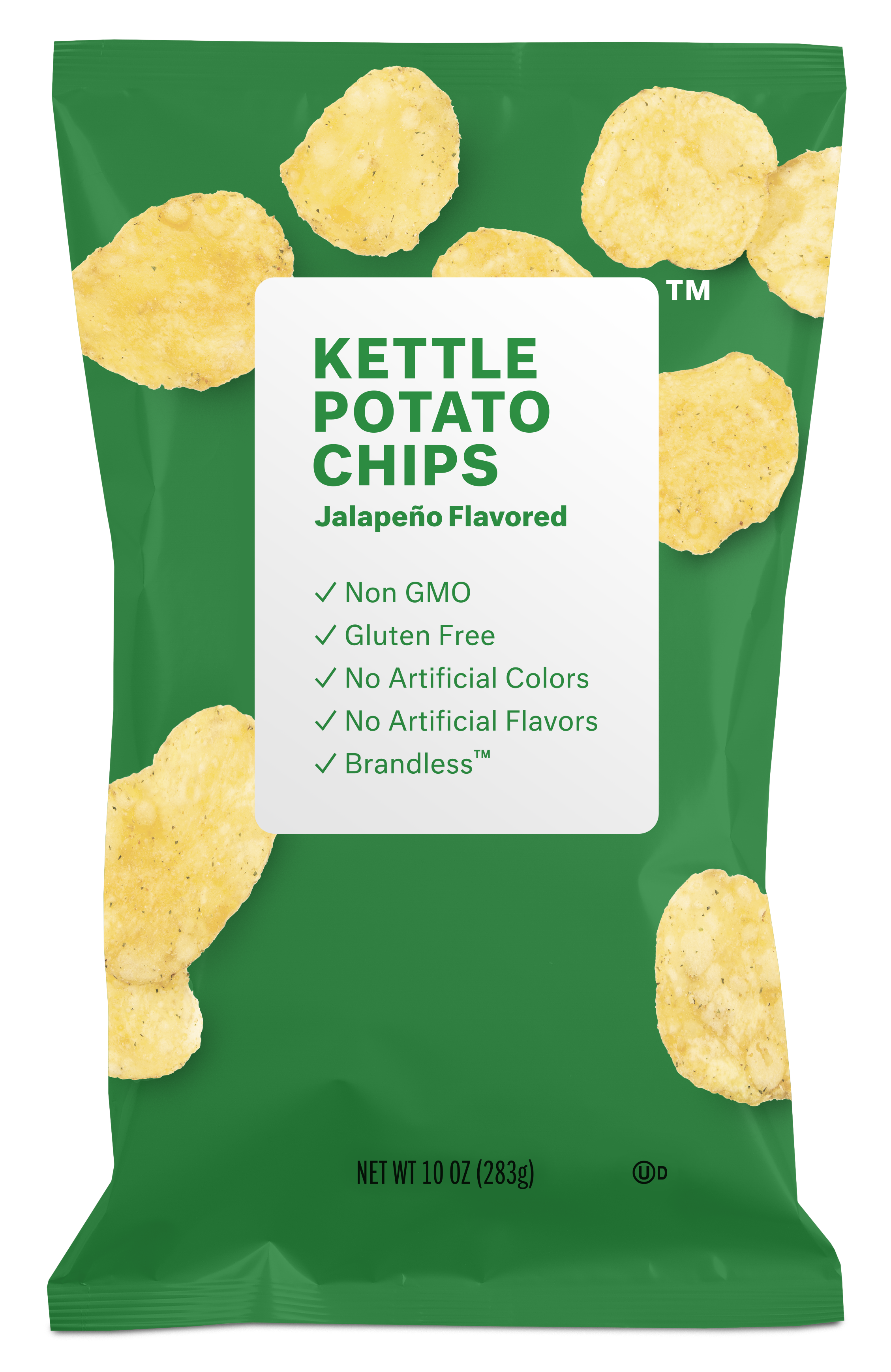 Brandless Kettle Potato Chips: Jalapeño Flavored