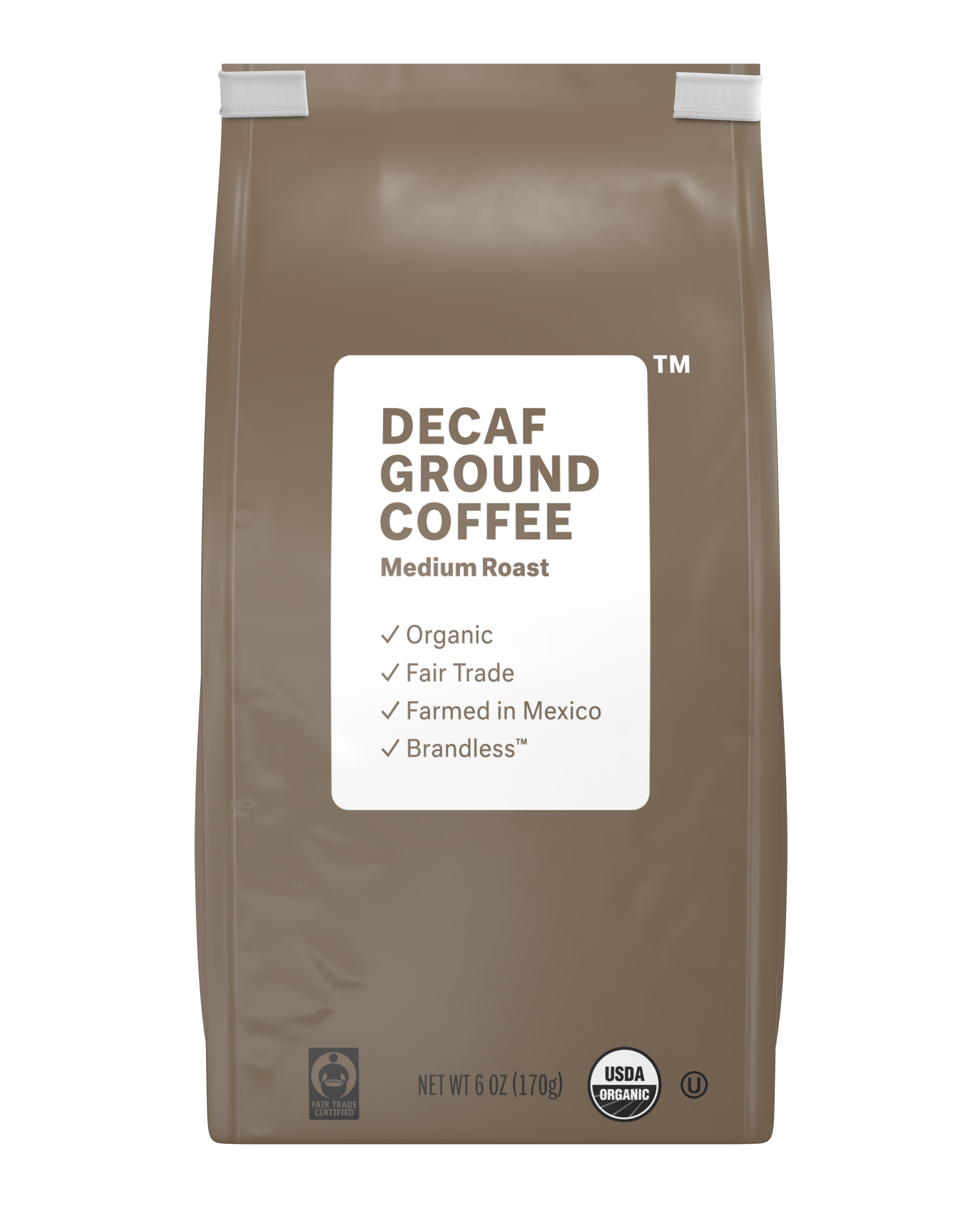 Brandless: Decaf Ground Coffee, Medium Roast